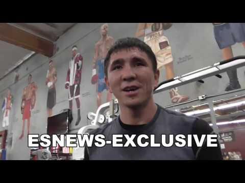 fighter from kazakhstan foot work drill in oxnard EsNews Boxing