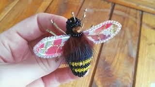 Брошь Пчёлка, арт 0801
