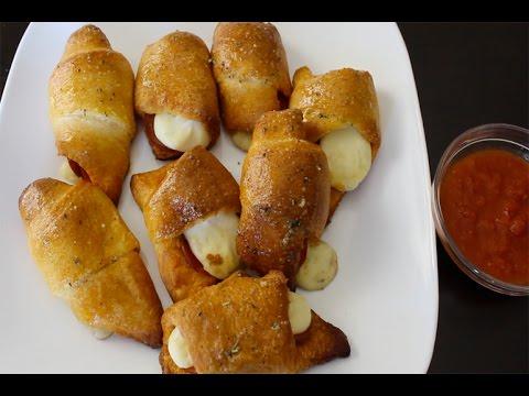 Pepperoni Cheese Stick Roll-Ups