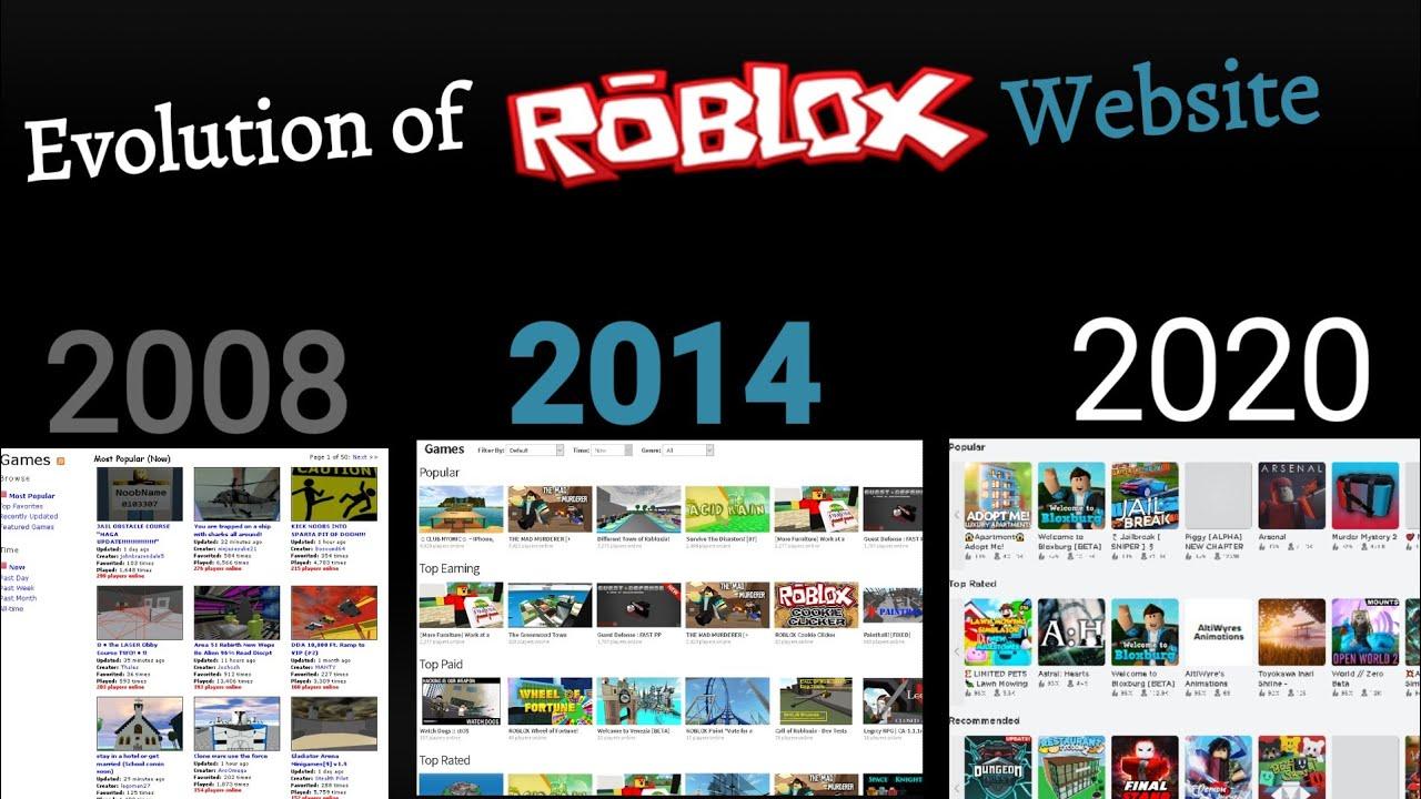 Download Evolution of Roblox website (2006 - 2020)