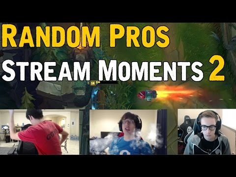 Random Pros Stream Moments # 2 : Funny League of Legends
