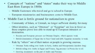 Nationalism & Middle East 1800-1925