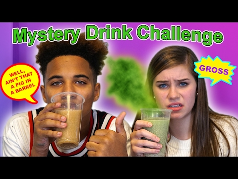 Mystery Drink Challenge! (Justin Vs CeCe)