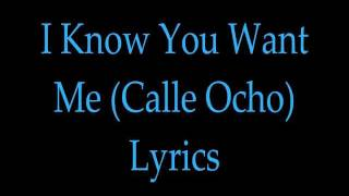 Pitbull - I Know You Want me (Calle Ocho) With Lyrics