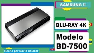 Unboxing Samsung Blu-Ray 3D 4K modelo- BD-7500. Español.