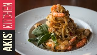 Shrimp Linguine Pasta  Akis Kitchen