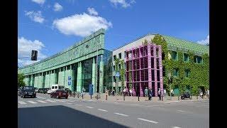 Ботанический сад на крыше библиотеки в Варшаве