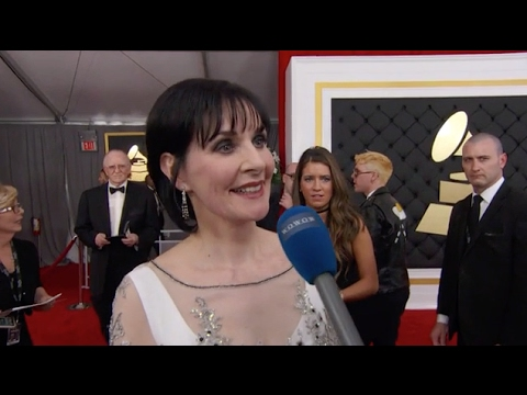 2017 Grammy Red Carpet with Enya interview by Wowow tv