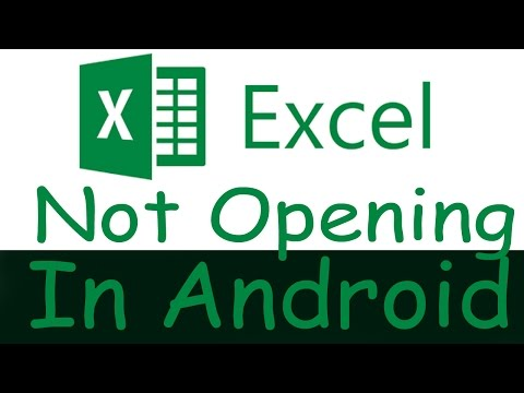 Unable To Open Excel Sheet Or .xls File In Android Phone
