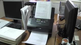 Сканер Epson GT-S85 в действии. 300 dpi