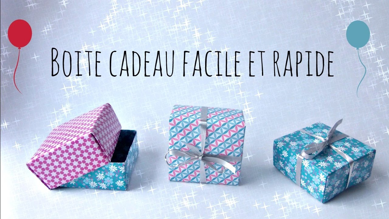 Boite A Cadeau Tuto Making A Gift Box Easy And Fast