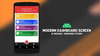 Android Modern Dashboard Screen UI Design | Android Studio