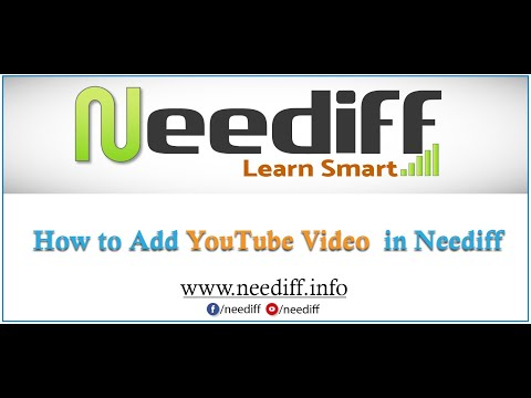 How to add YouTube Video in neediff.info