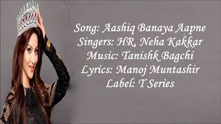Aashiq banaya lyrics song{hate story4}