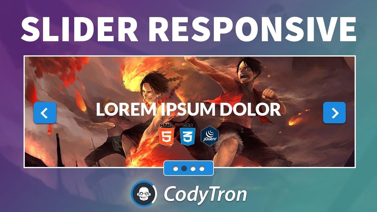 Como Hacer un Slider Responsive para tu sitio web con Flexslider 2017 (  html,css y js )