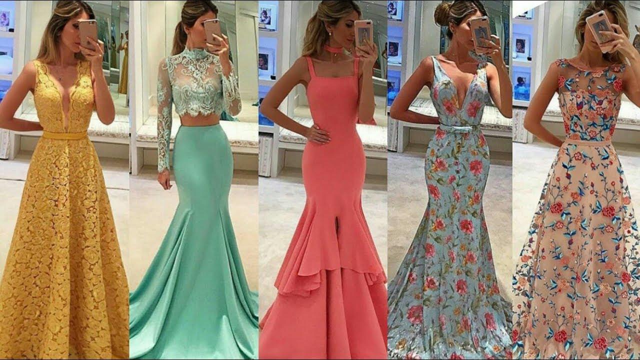 Vestidos Largos De Fiesta Elegantes Ideas De Invitada De Boda Madrina Tendencias Moda 2019