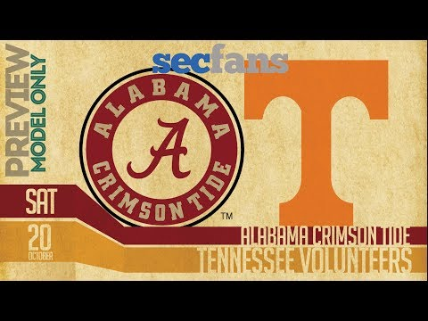 Alabama vs Tennessee - (Model Only) Preview & Prediction 2018 College Football