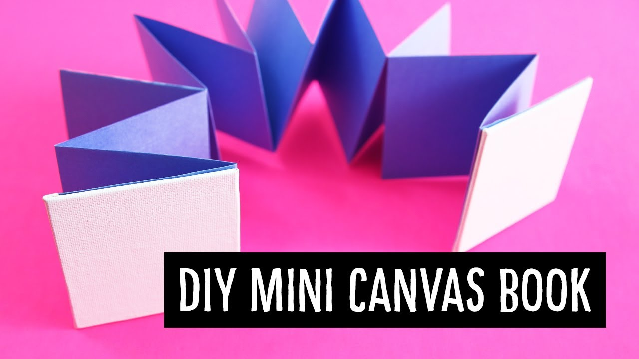 Diy Mini Canvas Book Meander Accordion Fold Sea Lemon Youtube