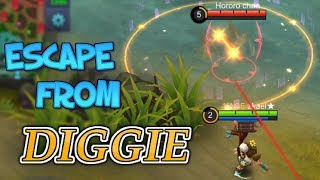 34 HEROES TRYING TO ESCAPE FROM DIGGIE