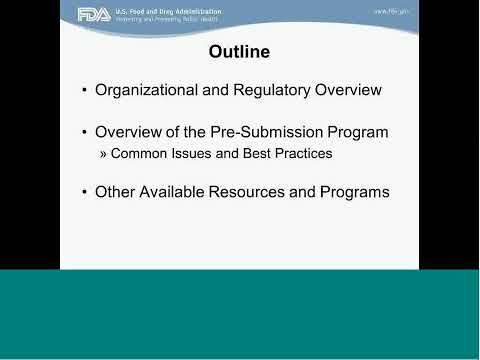 NIH-FDA Webinar – Best Practices for Navigating the IDE Pre-submission process with FDA