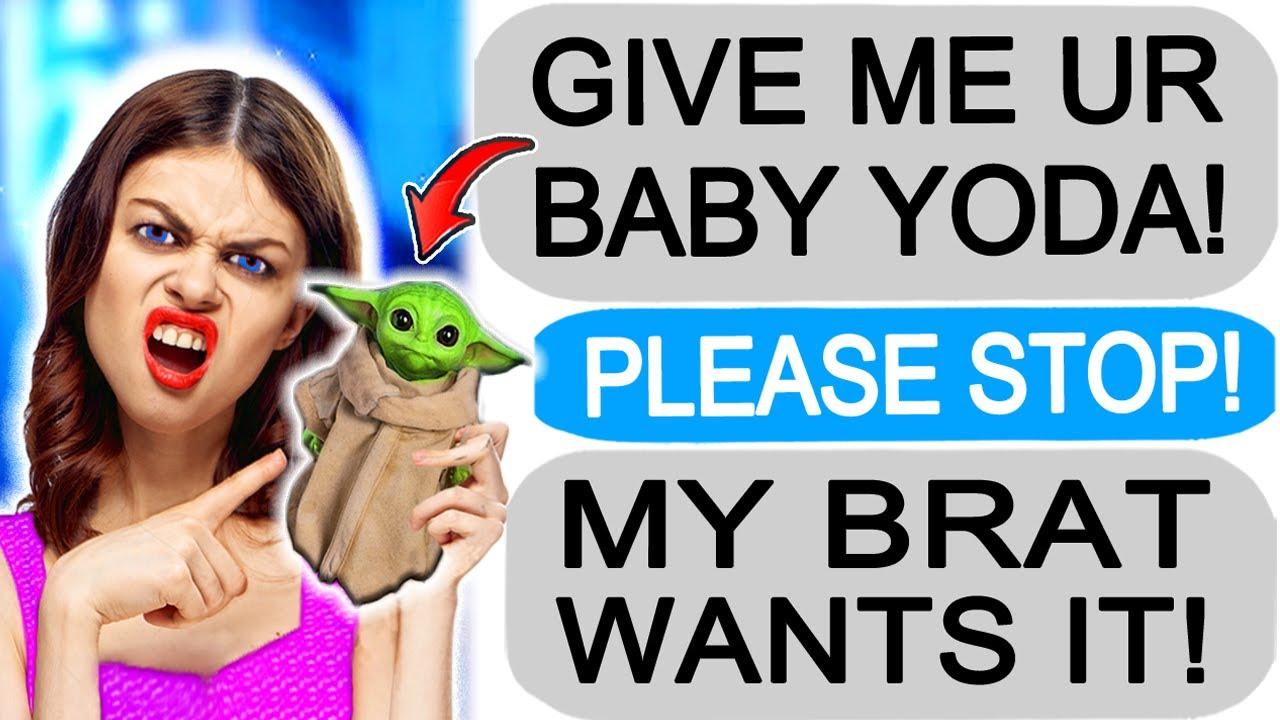 "r/Entitledparents ""KAREN DEMANDS MY BABY YODA!"""