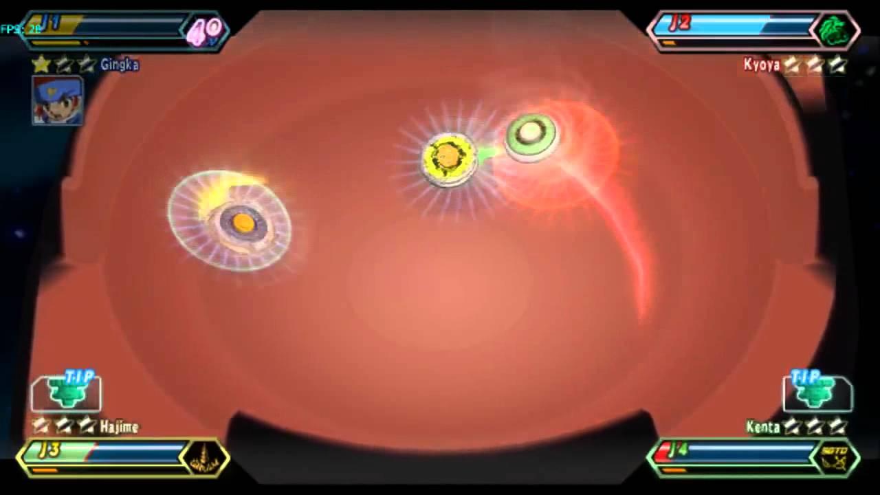 Beyblade Metal Fusion - Beybattle 4 players - YouTube