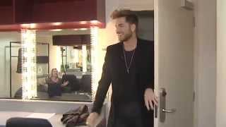 Download Adam Lambert - Behind The Scenes - Tucking Into Some Hummus Mp3 and Videos