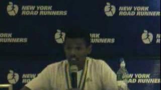 Haile Gebrselassie NYC Half-Marathon post-race press conf