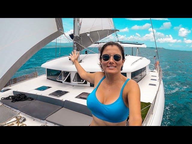 SAILING CATAMARAN WITH GRANDMA ONBOARD | Sailboat Living