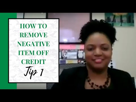 Tip 1 -How to remove negative marks on credit