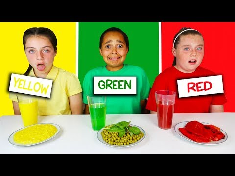 LAST TO STOP EATING THEIR COLORED FOOD CHALLENGE!!