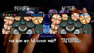 Real Drum App Full Screen Mode Tutorial | Tagalog