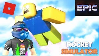 Playing Roblox Rocket Simulator!