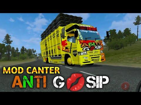 MOD BUSSID TRUCK CANTER ANTI GOSIP MUATAN BERAT