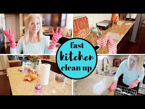 FAST KITCHEN CLEAN UP | 15 MINUTE CLEANING | my quick cleaning tips