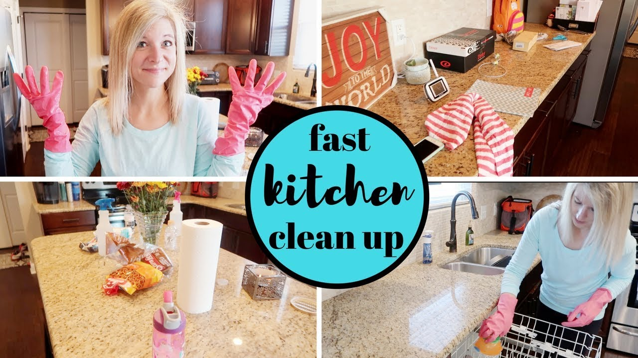 FAST KITCHEN CLEAN UP | 15 MINUTE CLEANING | my quick cleaning tips ...