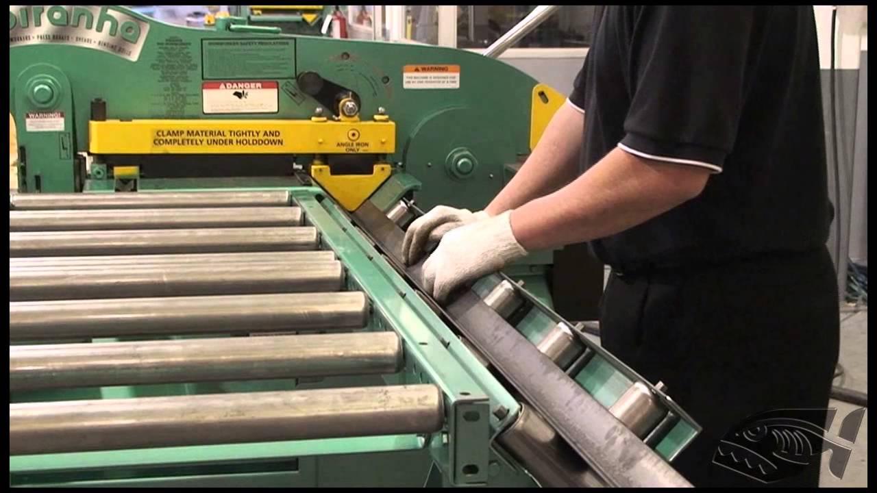 Piranha Material Handling Roller Feed Table - YouTube