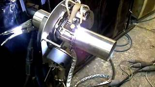 orbital welding demo with arc machines ami 415 orbital power source with open heads