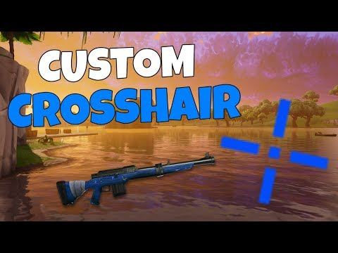 FORTNITE CUSTOM CROSSHAIR TUTORIAL! | PC/PS4/XBOX |