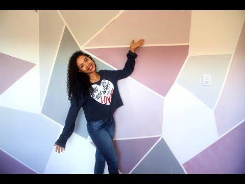 Pintura de parede em forma geométrica