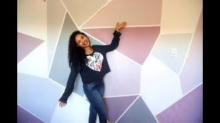 Como pintar parede em forma geométrica