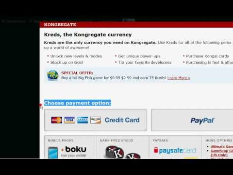 how to get free kreds on kongregate