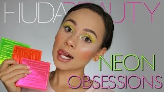 Huda Beauty Neon Obsessions Palettes   3 Looks, Review & Swatches
