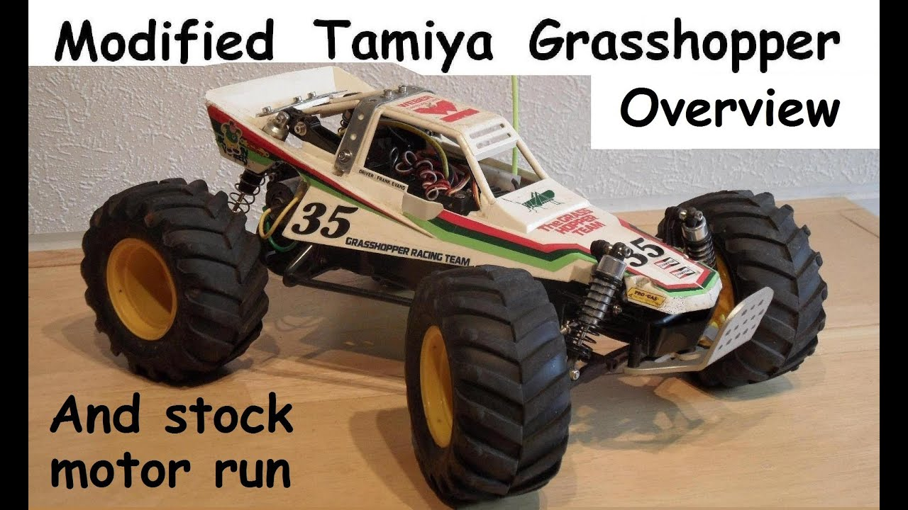Tamiya Grasshopper with IFS, truck wheels & other mods. - YouTube