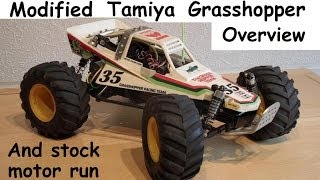 Repeat youtube video Tamiya Grasshopper with IFS, truck wheels & other mods.