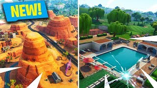 *NEW* SEASON 5 SECRET LOCATIONS! LAZY LINKS, PARADISE PALMS & PIRATE SHIP! (Fortnite: Battle Royale)
