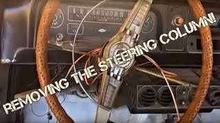 Removing the steering column 1964 Chevy C10 Project