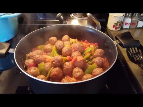 Sweet And Sour Meatball Skillet Recipe