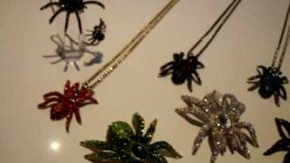 Swarovski Crystal SPIDER - Tarantula / Black Widow Jewellery