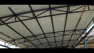 видео Как сделать навес из металлопрофиля своими руками